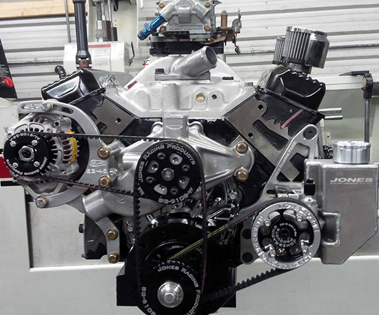 GM crate engine in shop